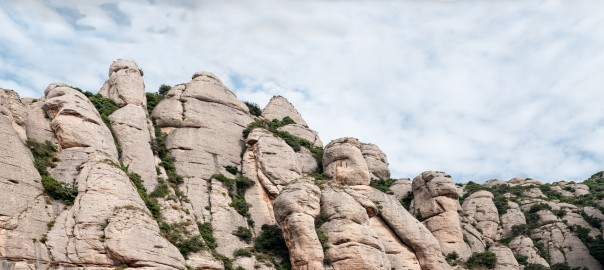Panoramic Mountain of Montserrat in Catalonia (Barcelona)