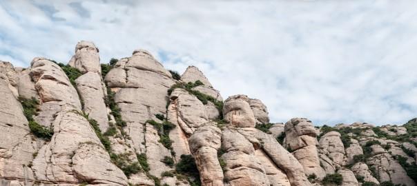 Panoramic Mountain of Montserrat in Catalonia (Barcelona)