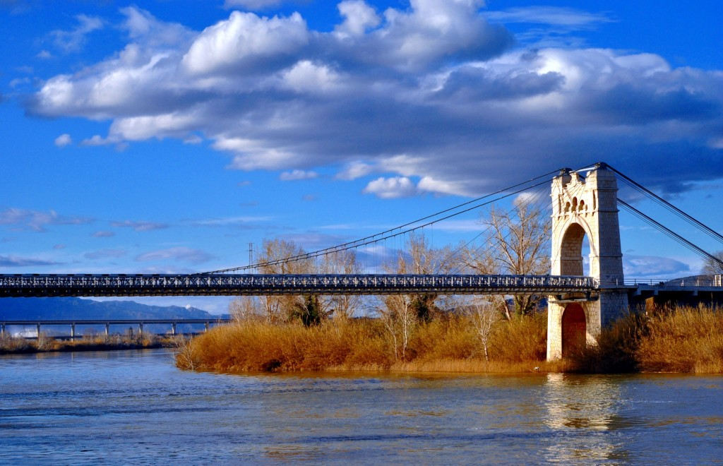 Amposta Bridge in the surroundings of Barcelona