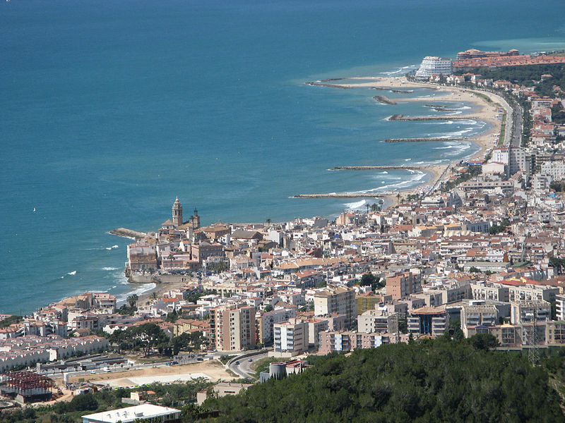 a view of the village of Sitges
