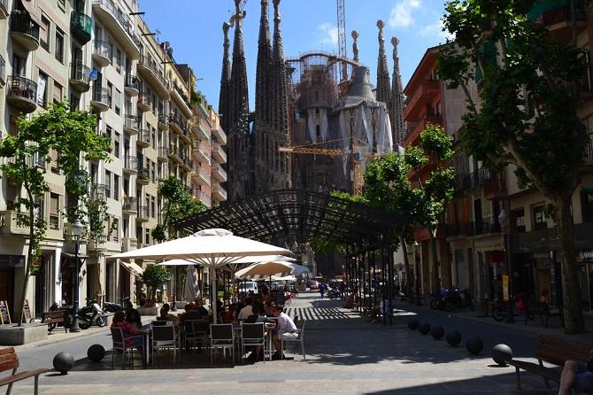 Avinguda Gaudí connect two treasures of Sagrada Familia Neighbourhood