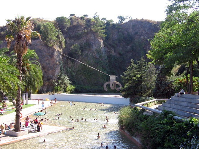 Creueta del Coll Park is an amazing combination of leisure and nature on a hill of Barcelona