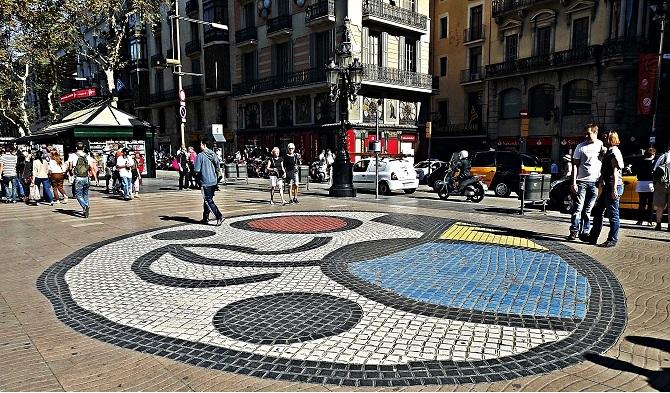Paviment Miró in Las Ramblas