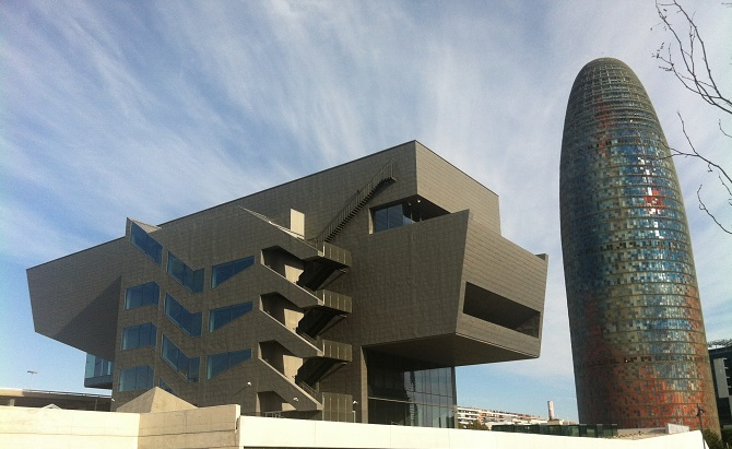 DHUB and Agbar tower: the axis of Contemporary art in Barcelona