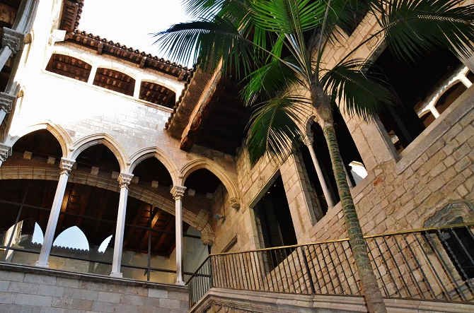 The Picasso Museum is a gothic palace converted into an exhibition hall