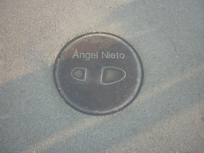 Angel Nieto footprint of Barcelona 92 Olympics Games