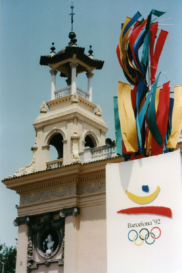 Olympics Games of Barcelona Symbol in Montjuic