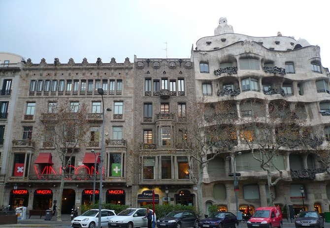 Passeig de Gracia host the most exclusively shops of the best labels