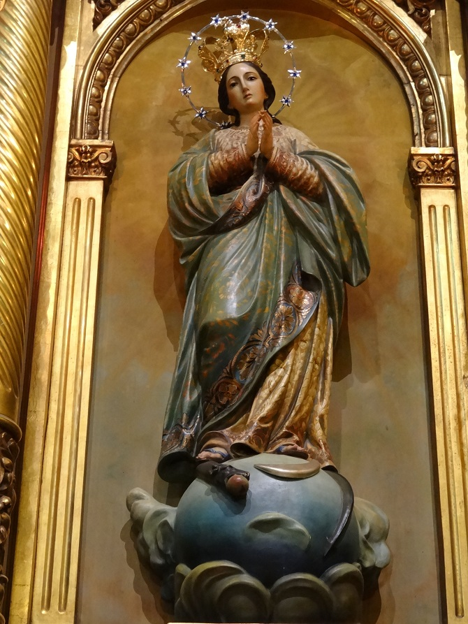 Virgin of La Mercé, one of the patrons of Barcelona
