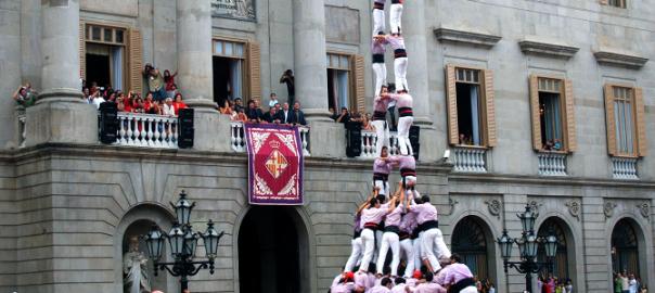 Castellers in La Mercé