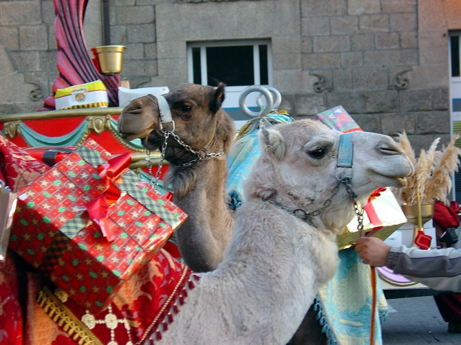 Barcelona on Christmas time: three magi's parade