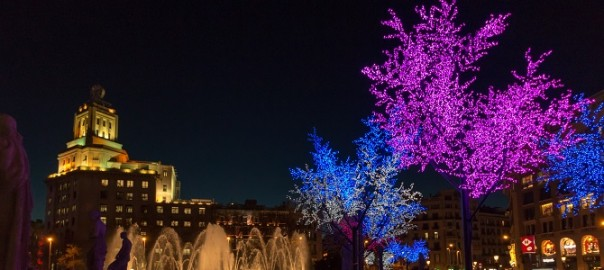 Plaza Cataluña: a good place to to welcome the New Year in Barcelona