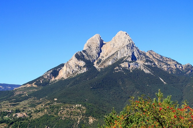 Pyrenees from a Barcelona apartment Pedraforca